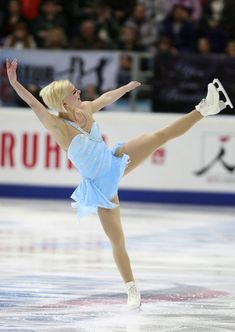 Rostelecom Cup ISU Grand Prix of Figure Skating 2012 - Blue Figure Skating / Ice Skating dress inspiration for Sk8 Gr8 Designs.