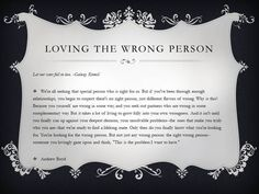 Loving the Wrong Person by Andrew Boyd - our wedding reading