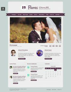 Flores Elegant Wedding WordPressTheme Wordpress Theme, Elegant Wedding, Getting Married, Photo Galleries, Couples, Couple