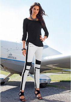 Брюки - http://www.quelle.ru/New_arrivals/Women_fashion/Women_trousers/Women_trousers_/Women_slim_trousers/Bryuki__r1252660_m292843.html?anid=pinterest&utm_source=pinterest_board&utm_medium=smm_jami&utm_campaign=board1&utm_term=pin19_14032014  Стильные брюки в байкерском стиле с контрастными вставками по боковому шву и на коленях. Зауженная модель с низкой посадкой. #quelle #trousers #style #biker #wild #spring