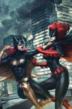 Epic. Batgirl & Batwoman. #Babs #Kate
