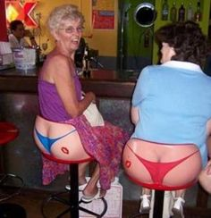 Take a second look. These are the funniest bar stools I have ever seen.