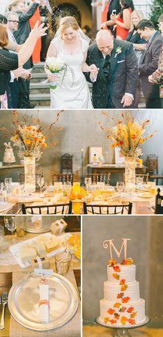 Cozy Orange and Yellow Fall Winery Wedding in Virginia