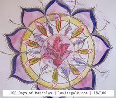 100 days of mandalas mixed media mandalas mandala art class