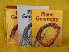 ABeka Geometry Student, Solution Key & Test / Quiz, School or Homeschool Math #TextbookBundleKit
