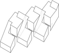 Estudio BaBO · Casas CLF - Row houses in Patagonia. Conceptual Model Architecture, Architecture Model Making, Concept Architecture, In Patagonia, Design Strategy, Master Plan, House In The Woods, Home Projects, Planer
