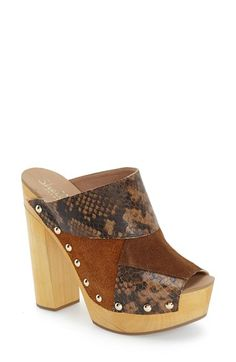 Shellys London 'Kitty' Open Toe Clog (Women) available at #Nordstrom
