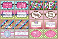 Girl Personalized Name / Monogram Luggage Bag by ohsuzyqdesigns, $5.49