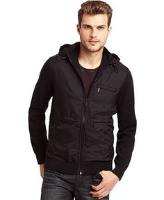 Kenneth Cole New York Hoodie, Nylon Tech Hoodie - Coats & Jackets - Men - Macy's 75