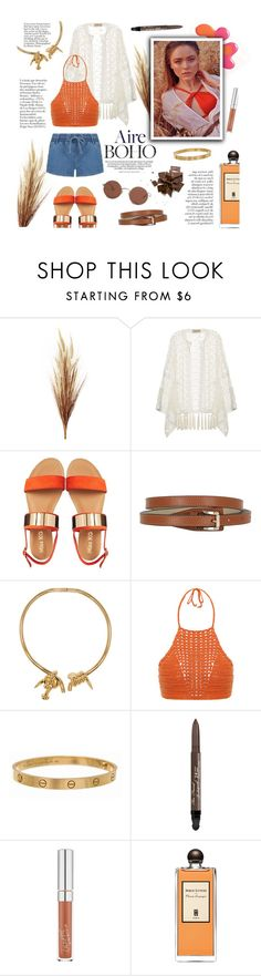 """""""Boho"""" by buttercup-on-fire ❤ liked on Polyvore featuring ADRIANA DEGREAS, Miss KG, Trussardi, AMBUSH, Spiritual Hippie, Cartier, Too Faced Cosmetics, Serge Lutens, The Row and boho"""