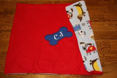 REVERSIBLE Pet Blanket Dog Blanket Fleece Custom Embroidered with Dog Name Made to Order Personalized pet blanket personalized dog blanket by RedBobbinDesigns on Etsy