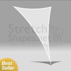 5' x 8' Stretch Triangle 3-Point-Shape-6 White - Instant Dispatch - Stretch Shapes