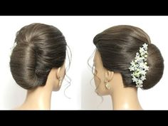 Bridal Updo With French Roll. Hairstyle For Long Hair Tutorial - YouTube