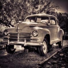 '46 Plymouth at Clark County Museum  #travel #museum #Nevada #antique #car #classiccar
