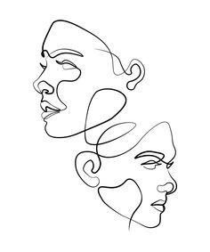 Face Line Drawing, Abstract Face Art, Outline Art, Line Art Design, Arte Sketchbook, Hippie Art, Diy Canvas Art, Art Drawings Sketches, Minimalist Art