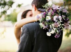 Beautiful purple and lilac wedding bouquet.  Photographed by http://www.victoriaphippsphotography.co.uk/