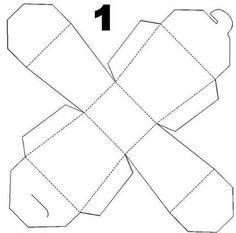Patron de boite enveloppe on pinterest box templates templates - Gabarit boite en papier ...