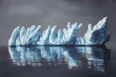 Hyper Realistic Pastel Drawings of Greenland's Icebergs Raise Awareness On Climate Change