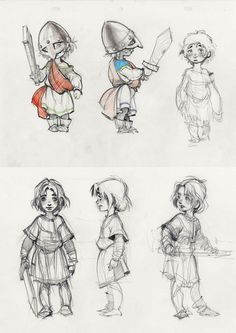 Little warrior character sketch of boy by Andrei Riabovitchev: