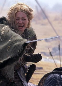 """Eowyn, from """"The Lord of the Rings."""" A shield maiden, she fears most living in a cage and wants to fight for her freedom and for the freedom of others. She is brave, determined, and proud (in a good way). She values honor, courage, and valor."""