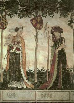 castello della manta fresco | Artist Artist - Castello della Manta / Markgraefinnen