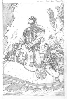 Inhumans Book 2 p.6 - Captain America by Joe Madureira *