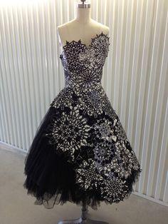 Alexander McQueen Snowflake Dress Fall 2008 - alt pin