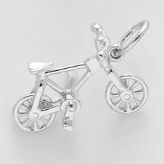 Bicycle Charm $23.50 http://www.charmnjewelry.com/sterling-silver-charms.htm #TravelCharm