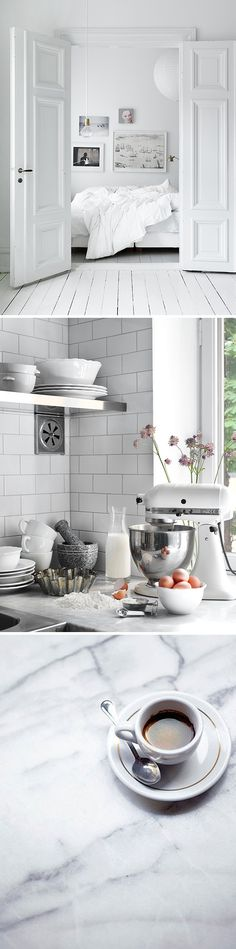 all white. LOVE my white kitchenaid! Küchen Design, Deco Design, House Design, Graphic Design, Decoration Inspiration, Interior Inspiration, Interior Ideas, Sweet Home, Estilo Interior