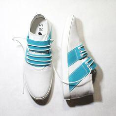 Fab.com | Mid Slip-On White/Blue
