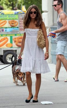 The perfect white cotton summer dress