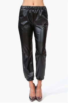 These faux-leather pants are seen all over the runways for Fall and are super cheap at only $24.99!!  I need these!