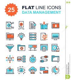 Data Management Icons Stock Photo - Image: 72223838