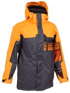 b255b81d9 Jupa Fredrick Jacket Orange Tonic Print/Dark Grey Denim Print/Orange  Tonic/Black Boys' - Waterproof and breathable fabric.