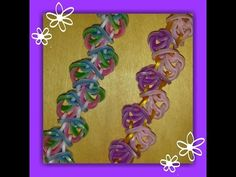 """NEW """"Psychedelic Jelly Babies"""" Hook Only Rainbow Loom Bracelet/ How To Tutorial - YouTube"""