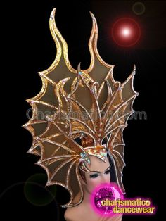 Butterfly Inspired Orange Headdress With Silver Details And Secure Crown Drag Queen Costumes, Drag Queen Outfits, Big Dragon, Tax Payment, Headgear, Headdress, Dance Wear, Orange Color, Butterfly