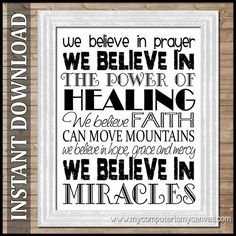 We Believe in Miracles SUBWAY ART   by mycomputerismycanvas, $10.00