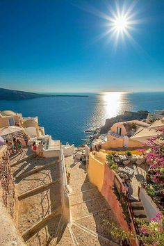 Greece Travel Inspiration - Steps to Ammoudi, Oia, Santorini Oh The Places You'll Go, Places To Travel, Places To Visit, Dream Vacations, Vacation Spots, Wonderful Places, Beautiful Places, Travel Around The World, Around The Worlds