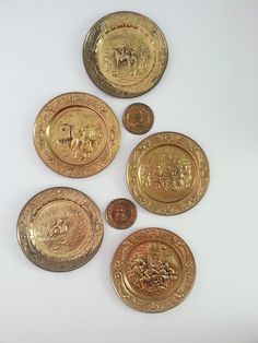 Vintage Brass Wall Plates Decorative Wall Hangings Vintage Brass