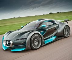 ♂ Concept car blue grey