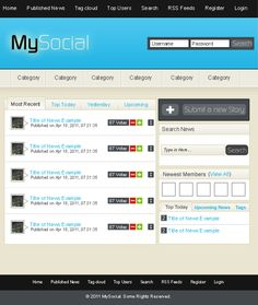 Design a Social Networking Site Layout in Photoshop