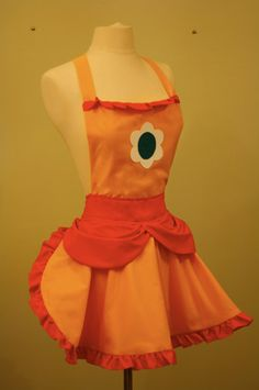 Princess Daisy Apron by darkballoons on Etsy, $65.00, probably wouldn't be too difficult to make... :)