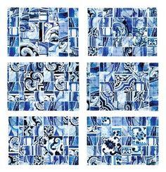 Jogos Americanos - Azulejos Azuis (6 unidades)