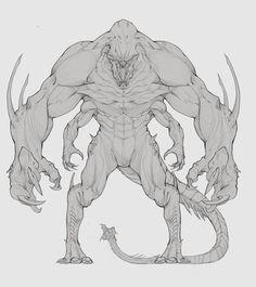 ArtStation - Monster Z byer. Monster Concept Art, Alien Concept Art, Creature Concept Art, Fantasy Monster, Creature Design, Fantasy Character Design, Character Design Inspiration, Character Art, Monster Drawing