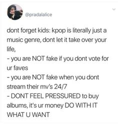 "I never let anything get to me but I honestly hate twitter, every other tweet is just ""vote! Vote! Vote!"" and ""stream! Stream! Stream!"" and it just gets annoying, #1 I have a life besides this (barely, by that I mean I have stuff to do in life, ie: homework 24/7) #2 im a broke bitch, the first physical album I bought was poet artist a few weeks ago and that's only bc I wanted to buy it since I heard he finished recording an album a few days before he died. Like I said, I never did let…"
