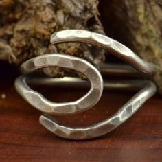 Vintage Sterling Silver indented Wrap Around 5 1g Ring 8 5 QK946 | eBay