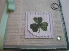 St. Patricks Day homemade card from Dustbincards on Etsy!