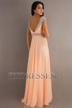 A-Line/Princess Sweetheart Straps Floor-length Chiffon Prom Dress