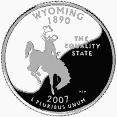 Learn about the Wyoming 50 State Quarter. Access Wyoming official state symbols with description and pictures. United States Mint, 50 States, Wyoming State, State Quarters, Nation State, Commemorative Coins, Money Makers, Usa, America