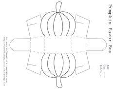food basket template | Pumpkin Favor Box Template - Free Printable Pumpkin Favor Box Template